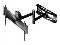 "Peerless Full-Motion Plus Wall Mount PLA50-UNL - Monteringssats (vridbar arm) för LCD- /plasmapanel - svart - skärmstorlek: 37""-80"" - wall-mountable PLA50-UNL"